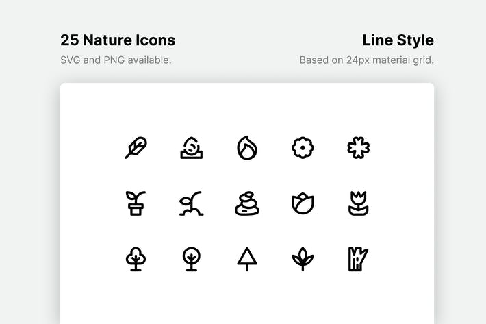 Thumbnail for Natur-Line-Icons