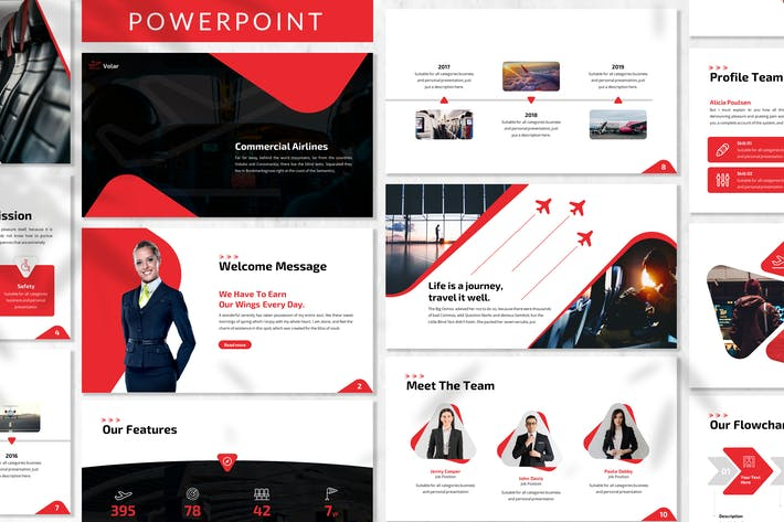 Thumbnail for Volar - Airlines Powerpoint Template