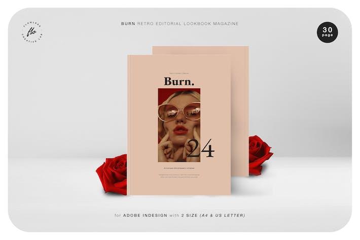 Thumbnail for Brennen Retro Editorial Lookbook Magazin