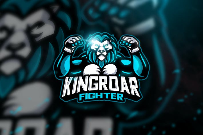 Kingroar Fighter - Mascot & Esport Logo