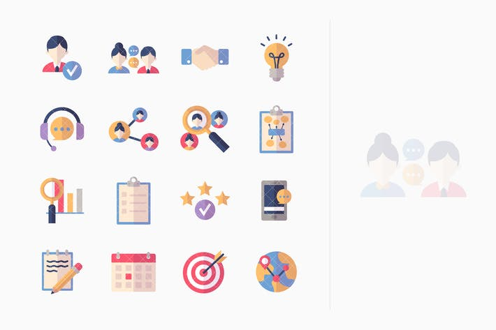 Thumbnail for Social Media Icons Set 2 - Flat Series