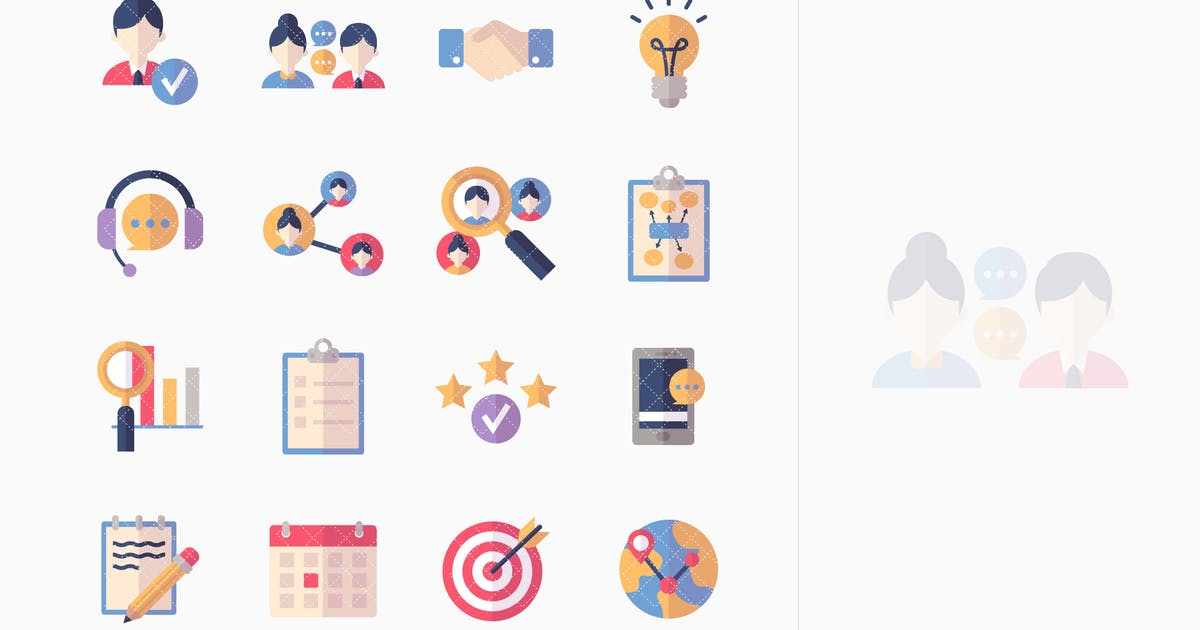 Download Social Media Icons Set 2 - Flat Series by introwiz1
