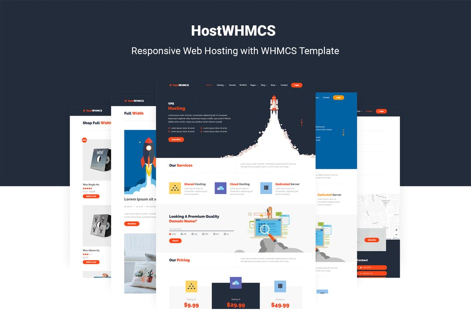 Download HostWHMCS | Web Hosting with WHMCS Template by themelooks