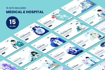 Medical & Hospital Concept Landing Page Template