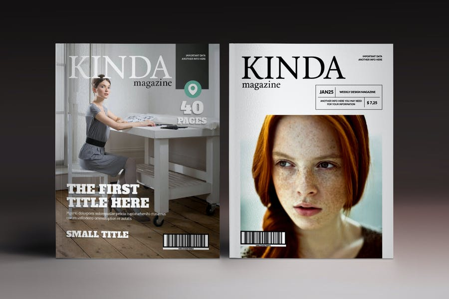 Kinda Magazine Indesign Template