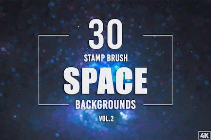 30 Stempel Pinsel Space Hintergründe - Band 2
