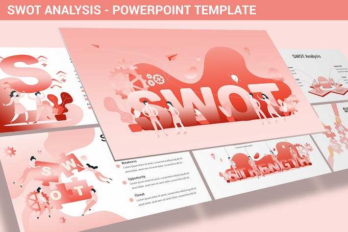 Thumbnail for SWOT Analysis - Design Illustration for Powerpoint