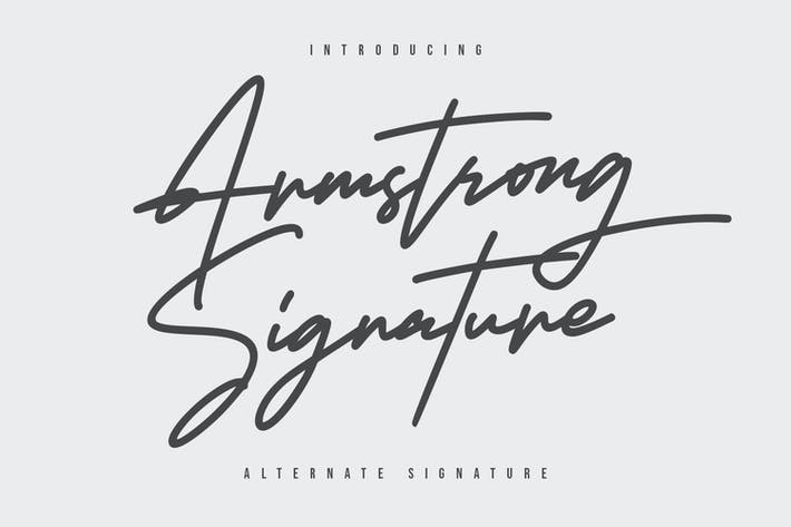 Thumbnail for Armstrong Signature Font