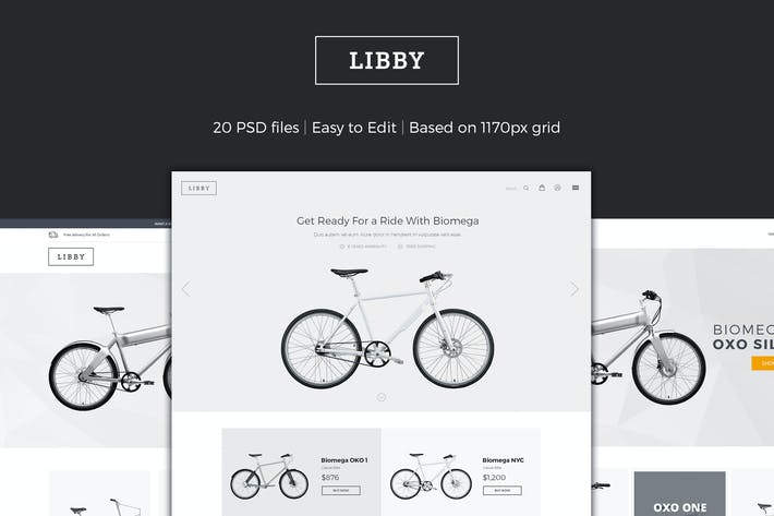 Thumbnail for Libby - eCommerce PSD Template