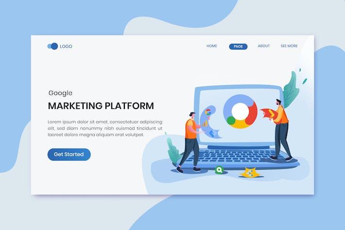 Thumbnail for Marketing Platform Landing Page