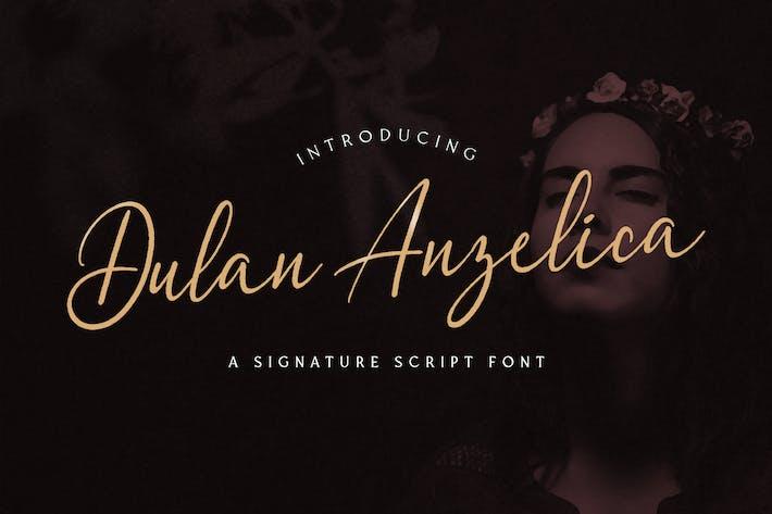 Thumbnail for Dulan Anzelica - Signature Script Font
