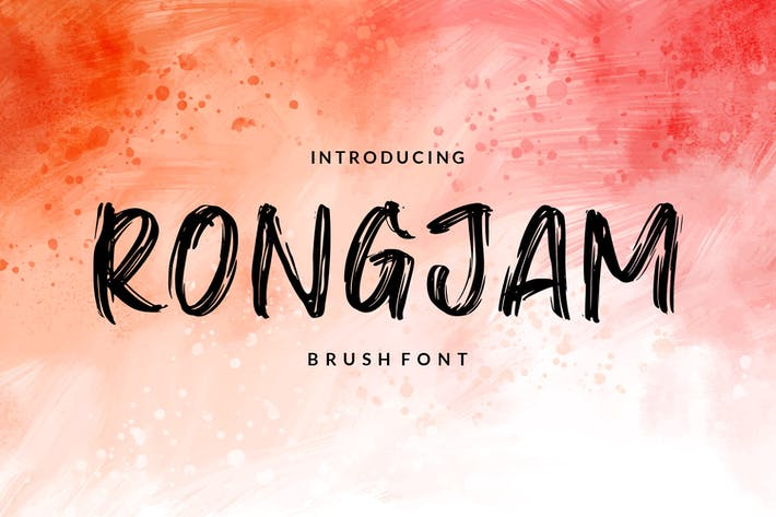 Thumbnail for Rongjam - Brush Font