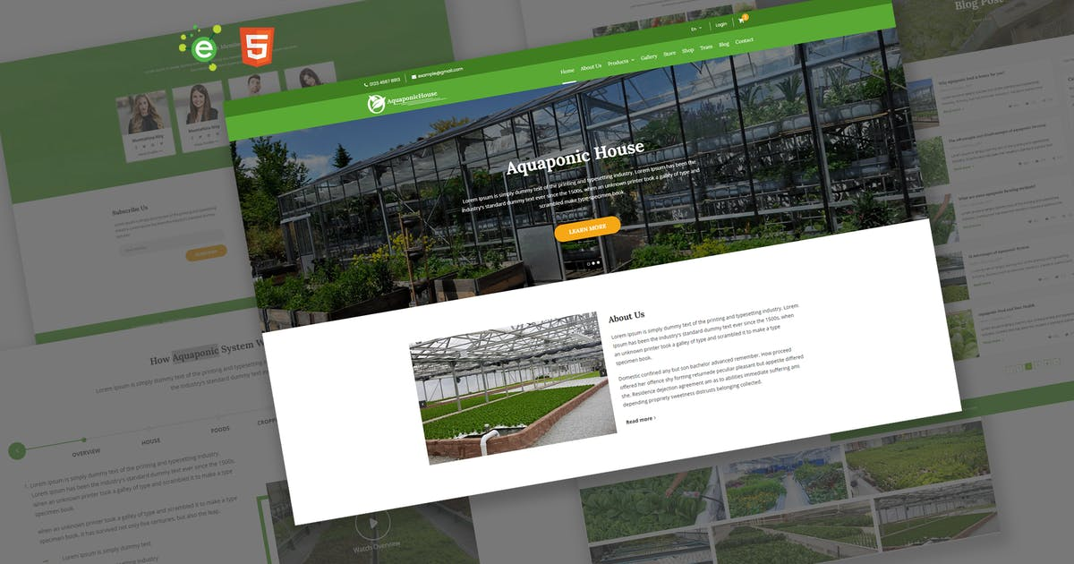 Download Aquaponic House HTML5 Template by envalab