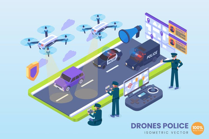 Thumbnail for Isometric Drone Police Concept