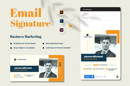 Business Marketing Email Signature