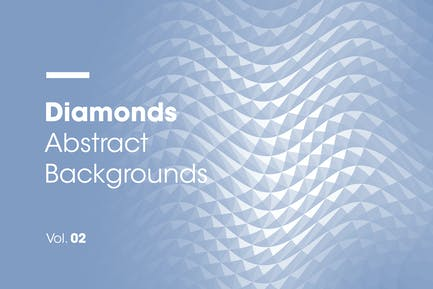 Diamonds   Abstract Backgrounds   Vol. 02