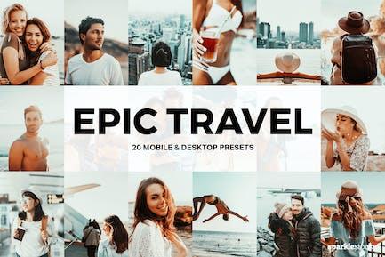 20 Epic Travel Пресеты Lightroom и LUT