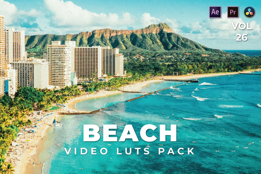 Beach Pack Video LUTs Vol.26