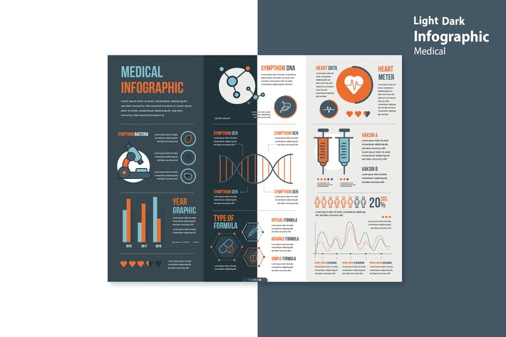 Thumbnail for Infographic Chart Elements for Medical V.02