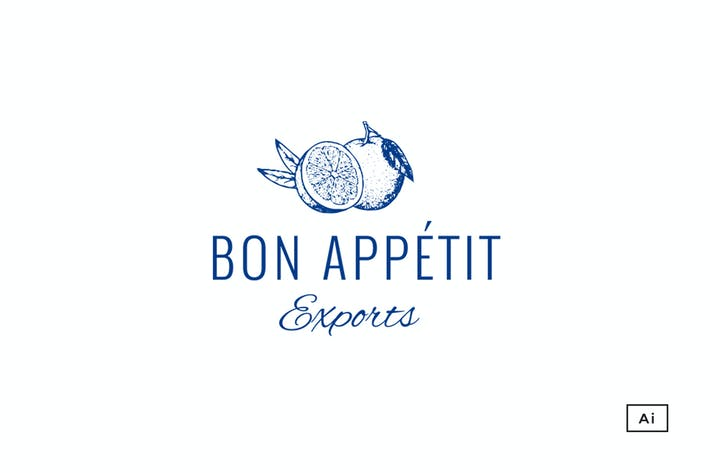 Cover Image For Bon Appétit Vintage Logo Template
