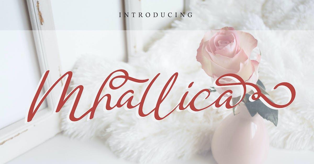 Download Mhallica   Modern Calligraphy Font by Vunira