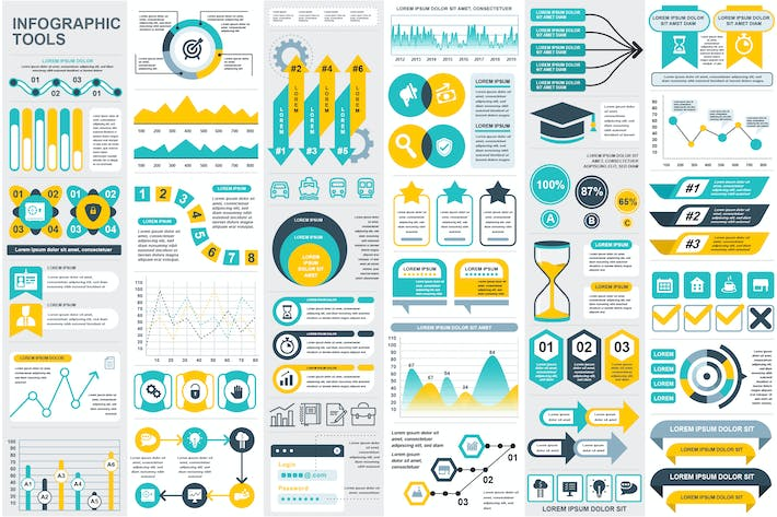 Cover Image For Presentation Infographic Elements Template