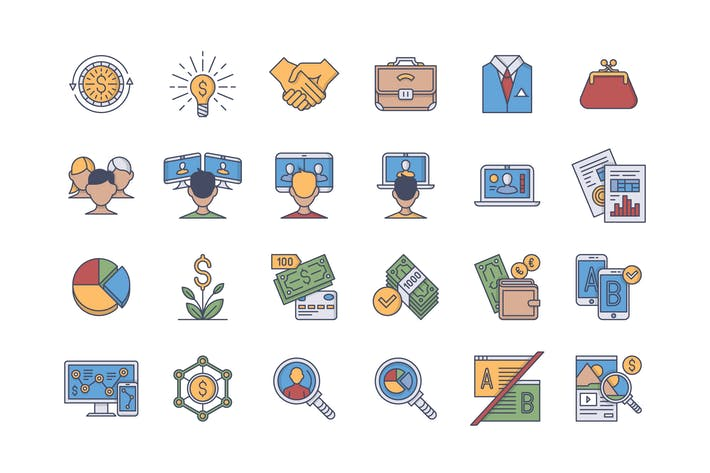 Thumbnail for 35 Business Icons