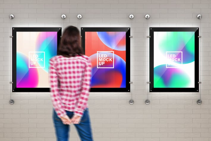 Thumbnail for Indoor Led Poster Screens Mock-Ups
