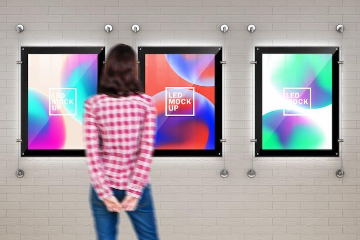 Indoor Led Poster Screens Mock-Ups