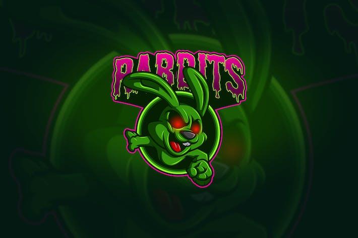 Thumbnail for Lapin - Mascotte & Logo Esport