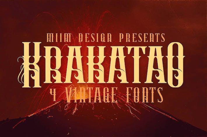 Thumbnail for Krakatao - Vintage Font