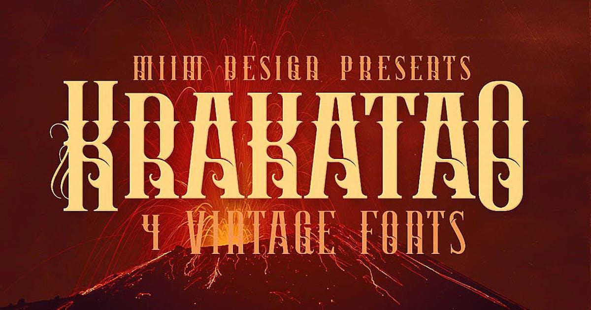 Download Krakatao - Vintage Font by cruzine