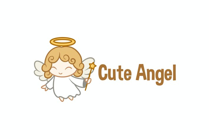 Thumbnail for Cute Little Angel Character Mascot Logo