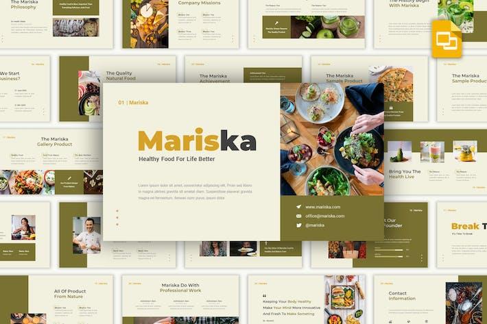Thumbnail for Mariska - Здоровое питание Google Слайды Шаблон