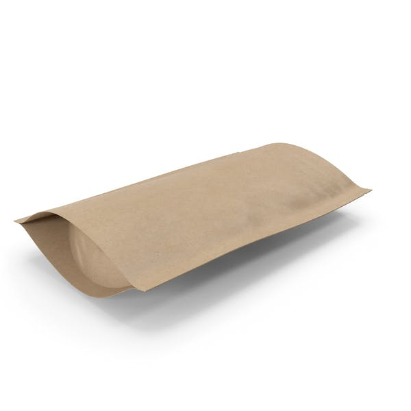 Zipper Kraft Paper Bag 150 g Open
