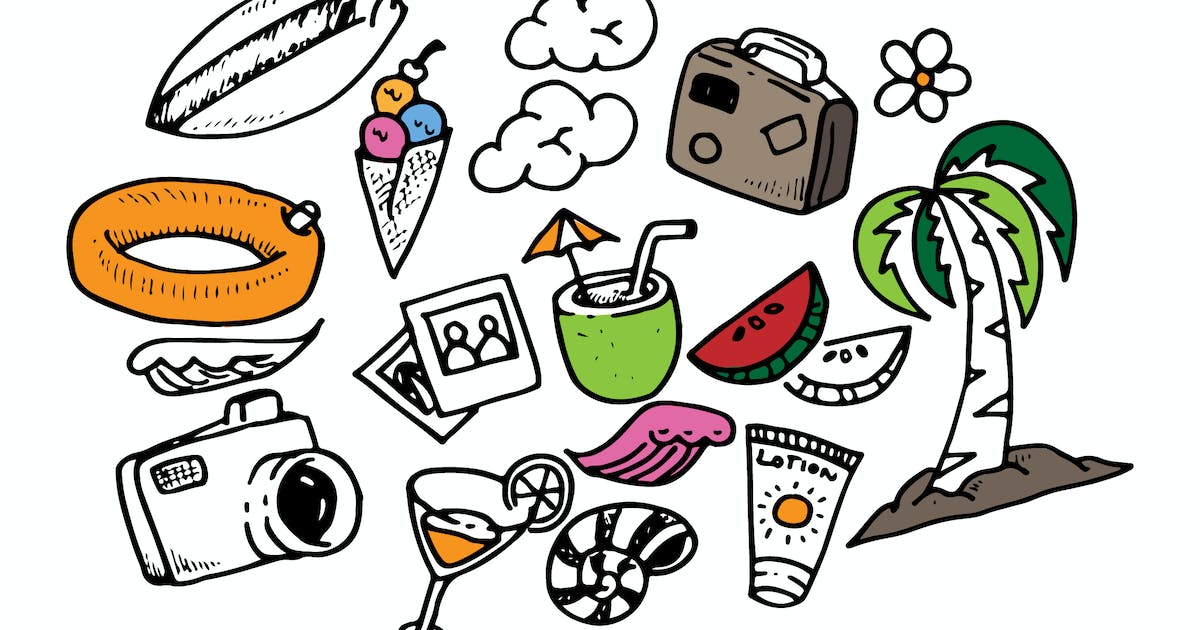 Download Tropical Doodles Collection by TMint