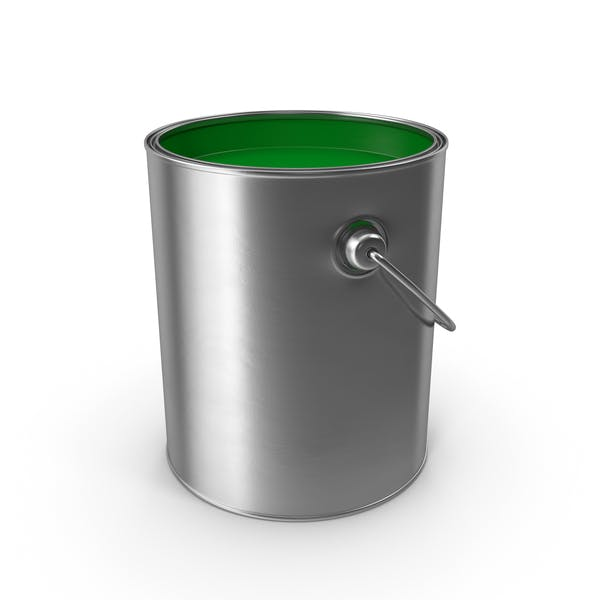 Open Metal Paint Can