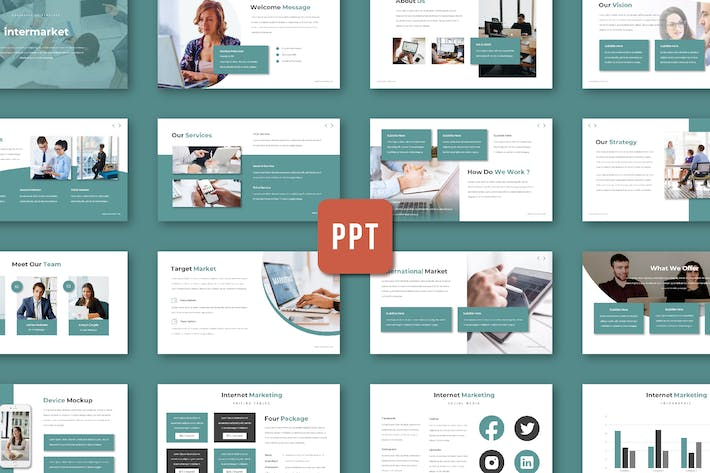 Thumbnail for Intermarket - Powerpoint Template