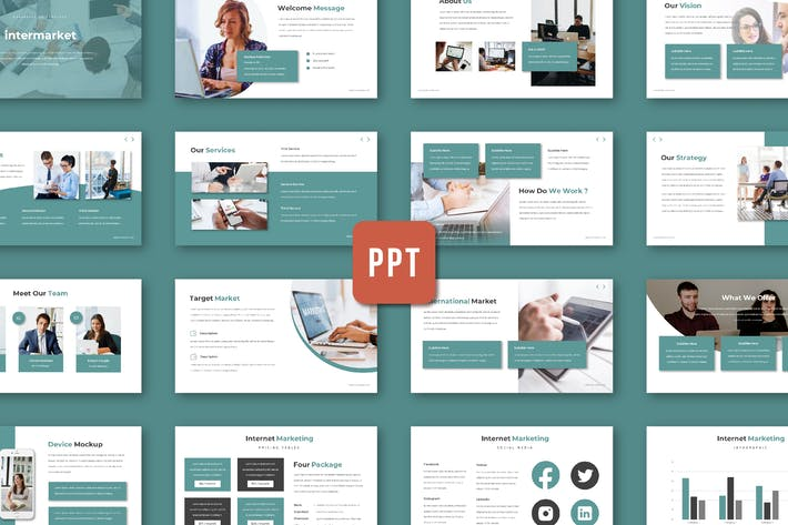 Cover Image For Intermarket - Powerpoint Template