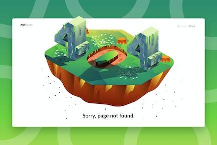 404 - Banner & Landing Page
