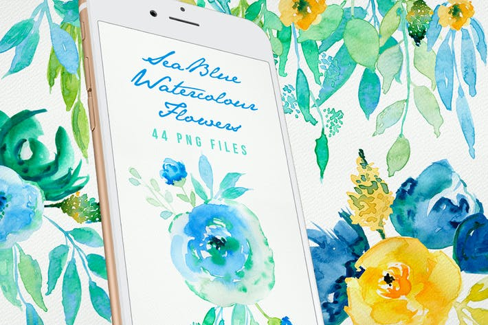 Thumbnail for Sea Blue Flowers