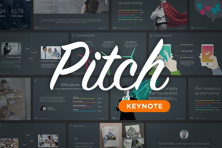 Pitch - Keynote Template by Slidehack on Envato Elements