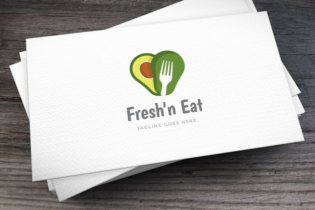 Fresh Avocado Logo Template - product preview 0