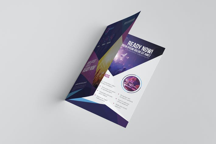 cover image for dj a5 brochure template