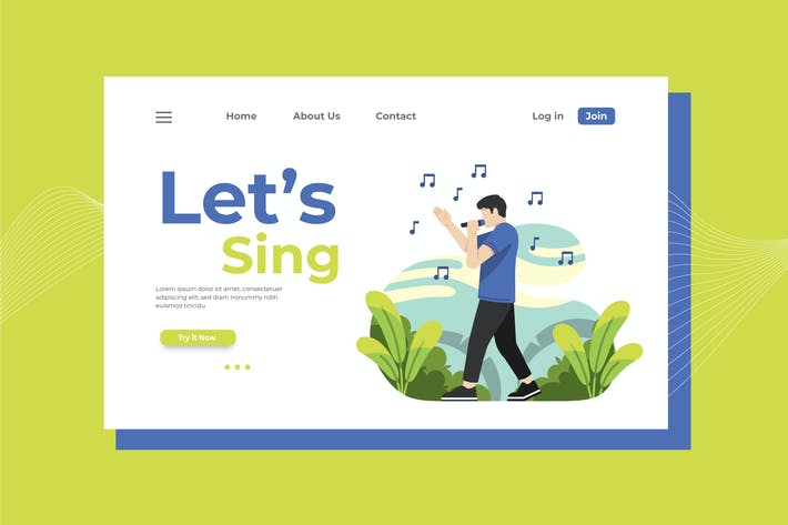 Thumbnail for Let's Sing Landing Page Illustration
