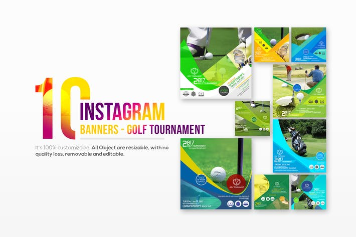 Thumbnail for 10 Instagram Post Banner-Golf Tournament