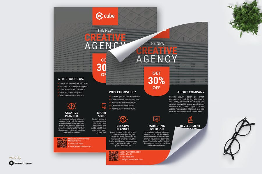 Cube Creative Solution - Business Poster RB