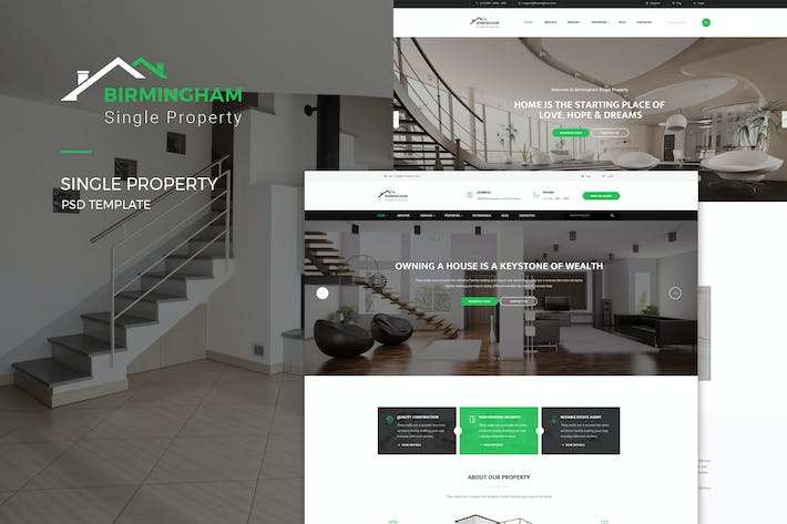 Thumbnail for Brimingham : Single Property PSD Template
