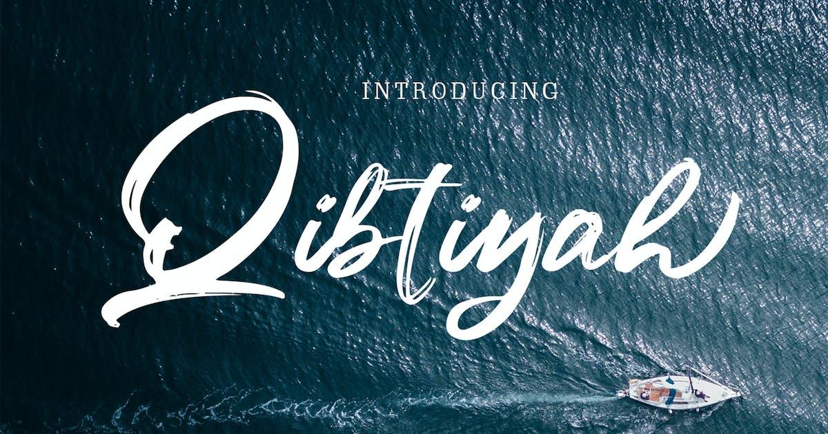Download Qibtiyah Brush Font by arendxstudio