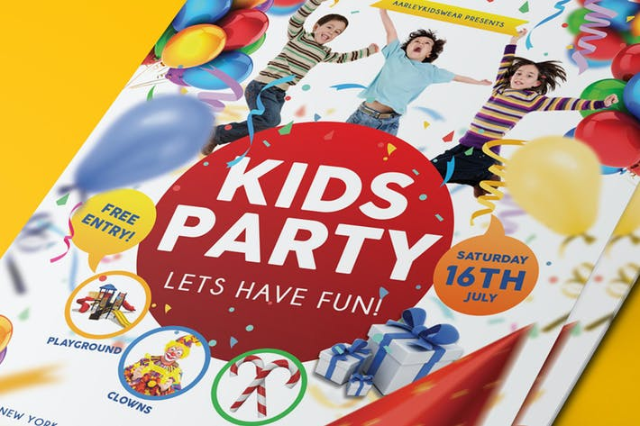 Thumbnail for Kids Party Flyer